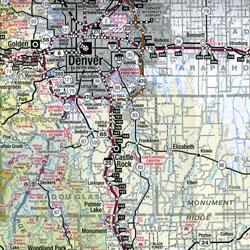 Colorado Road and Topographic Recreation Map, Colorado, America.