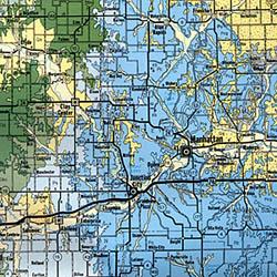 Kansas Geologic Road and Highway Map, America.