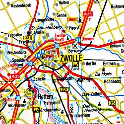 Benelux (Belgium, Netherlands, Luxembourg) Tourist Road ATLAS.