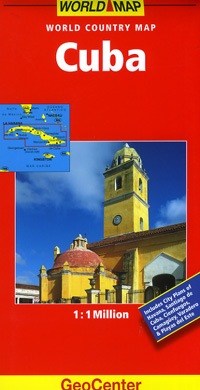Cuba Road and Shaded Relief Tourist Map.