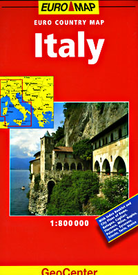 Italy Road and Shaded Relief Tourist Map.