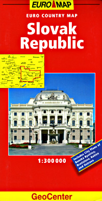 Slovak Republic, Road and Shaded Relief Tourist Map.