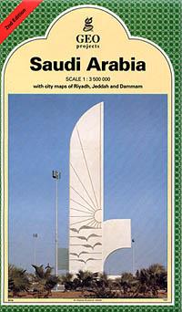 Saudi Arabia, Road and Physical Tourist Map.