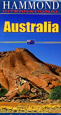 Australia Road and Shaded Relief Tourist Map.