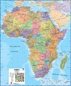 Africa Political WALL Map.