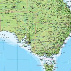 Australasia Political WALL Map.