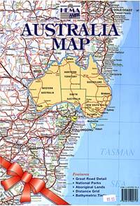 "Australia ""Envelope"" Road and Tourist Map."
