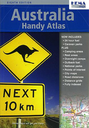 Australia Handy Tourist Road ATLAS.