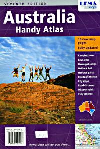 Australia Handy SPIRAL Tourist Road ATLAS.