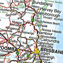 Australia Handy Road and Tourist Map.