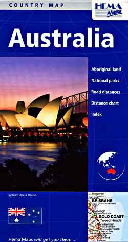 Australia Road and Tourist Map, Deluxe.
