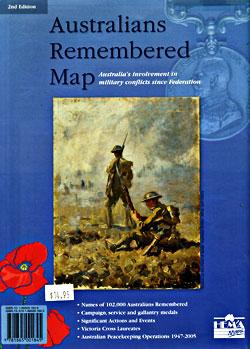 "Australians ""Remembered"" Tourist Map."
