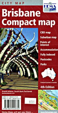 Brisbane Compact map, Australia.