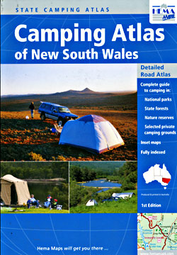 New South Wales Camping State, Tourist Road ATLAS, Australia.