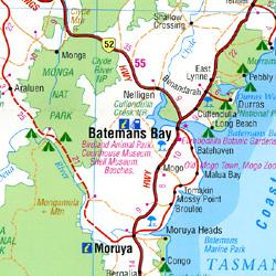 "Canberra and Region ""Handy"" Map, Australia."