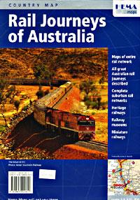 Australia Railway Tourist Map.