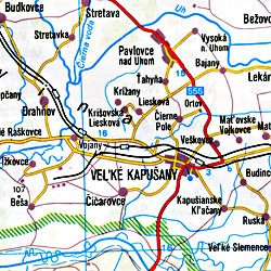 Slovak Republic, Road and Tourist Map.