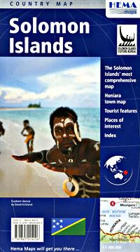 Solomon Islands, Road and Tourist Map.