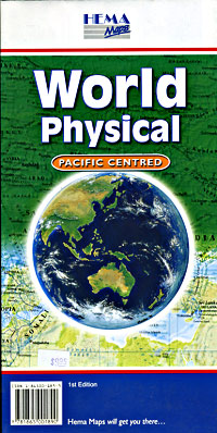 World Physical, Pacific Centered Map.