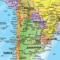 World Political DESK PAD Map.