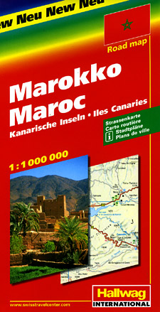 """Morocco Road and Tourist Map (see also """"Africa, North and West, Road and Tourist Map, including Morocco"""" Click Here)"""