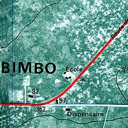 Bangui, Road and Tourist Map.