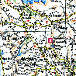Caen and Cherbourg Section Map.