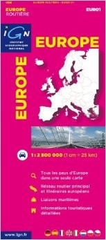 Europe Road and Tourist Map.