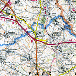 Laon and Arras Section Map.