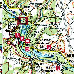 Paris Northeast and Laon Map.