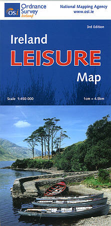 """Ireland """"Leisure"""" Road and Shaded Relief Tourist Map."""