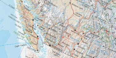 Canada Road and Physical Travel Reference Map. 2nd Edition.