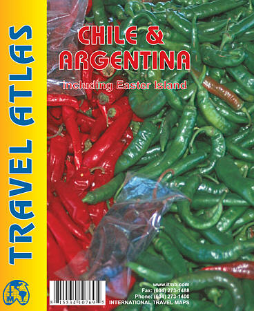 Chile and Argentina Tourist Road ATLAS.