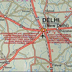 India Road and Travel Reference Road Map.