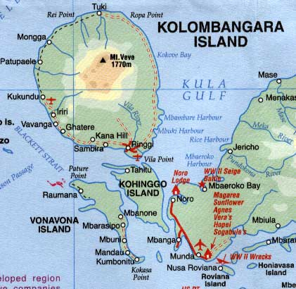 Solomon Islands, Road and Physical Travel Reference.
