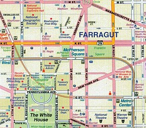 Washington, D.C and Eastern Corridor Road and Physical Travel Reference Map America.