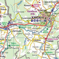 Latvia Tourist Road Atlas, Latvia.