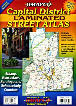 Albany - Capital District (Laminated) Street ATLAS, New York, America.