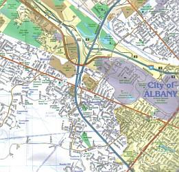 Albany - Capital District (Supermap), New York, America.