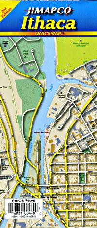 """Ithaca """"Quickmap"""", New York, America."""