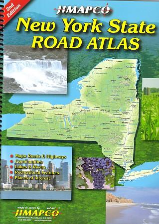 New York State, Road ATLAS, America.