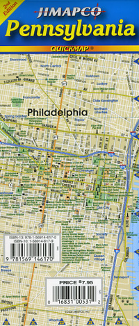 """Pennsylvania """"Quickmap"""" Road and Tourist map."""