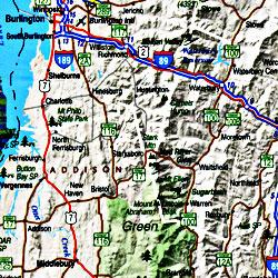Vermont Tourist Road ATLAS, America.