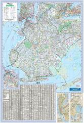 Brooklyn WALL Map New York, America.