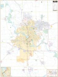 Cedar Rapids WALL Map.