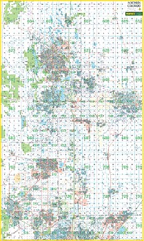 Colorado State Northern WALL Map.