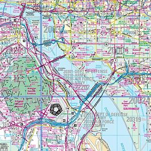 Washington, DC Metro Wall Map, America.