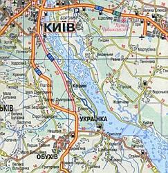 Ukraine Tourist Road ATLAS.