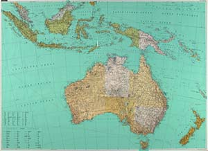 Australia Political WALL Map.