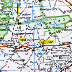 Austria Road and Shaded Relief Tourist Map.